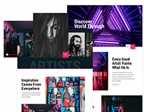 Art Agency Landing Page