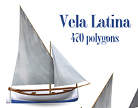 Low poly means of water transport