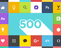 Promotion design - celebrating fb 500 likes