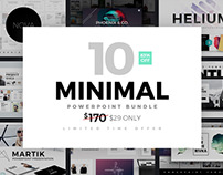 Minimal PowerPoint Template Bundle by Slidedizer