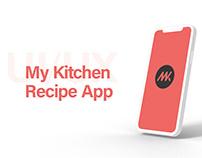 My Kitchen - Recipe App (UI/UX)
