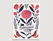 2018 illustrated calendar