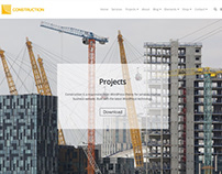Construction WordPress Theme - Projects Page