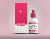Dropper bottle Mockup (PSD files)