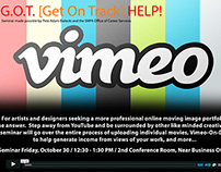 """Vimeo"" Seminar for the SMFA Office of Career Services"