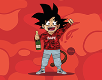 Dragon Ball Z x BAPE x Yeezy Boost 350 Turtle Dove