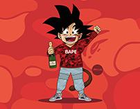 Dragon Ball Z x BAPE x Yeezy Boost 350 Turtle Dove