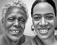 """Family Art """"Mama & Me"""" Digital Art by Wayne Flint"""