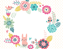 Free download floral background. Sweetheart card.