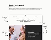 Web Design for Renew Church, Newark