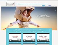Science on explore site Web d'expérience pour enfant