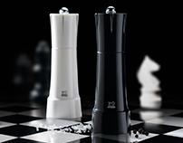 """Peugeot salt & pepper mills """"Chess"""" 2015"""