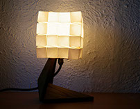 "Lampe Cube en collaboration avec ""Applied Origami"""