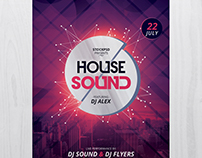 House Sound - Free PSD Flyer Template