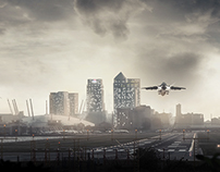 London City Airport Retouching