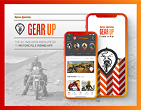 GEAR UP App Design for Motorcycle Riders