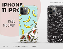 Case Mockup iPhone 11 Pro PSD (lyers)