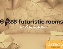 6 FREE Futuristic 3D Rooms