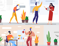 Vector Illustrations for Website and Mobile Apps