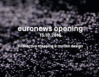 Euronews opening, interactive mapping and motion design