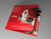 Indesign template - Trifold brochure Red Diamond