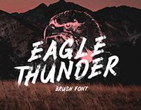 EAGLE THUNDER - FREE TEXTURED BRUSH FONT