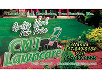 CNJ Lawncare business cards