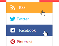 Social Menu Drop Down UI