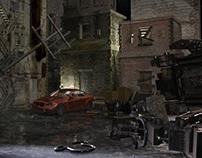 Abandoned Urban Scene