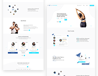 Valet Fitness Landing page