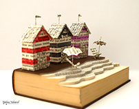 A Day By The Sea - Book Sculpture
