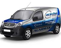 Rotulación Furgonetas Mercedes Citán - Acecho Seguridad