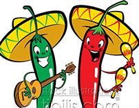 Mexican hot chillie peppers music group