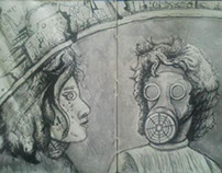 Sci-Fi Ink Drawings