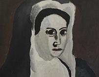 Master Copy - Portrait of a Nun (Artemisia Gentileschi)