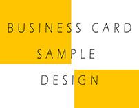 Business Card Sample Design