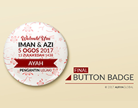 Button Badge Iman & Azi
