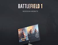 Battlefield 1 - Redesign Website