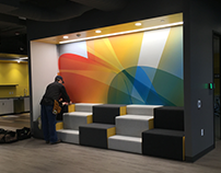 King 5 New Building interior Wall Graphics