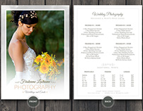 Wedding Photographer Pricing Guide PSD Template v4