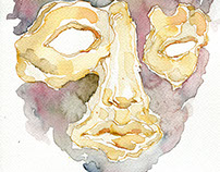 Masks project: watercolors