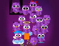 Elizabeth Owl Stickers