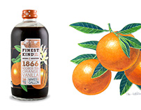 Finest Kind Logo Illustration and Fruit Watercolors