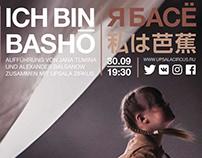 I am Bashō, tour poster for Upsala Circus