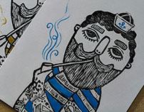 Nautical Linocut prints