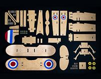 Skateboard plane Model Kit