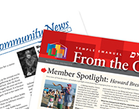 Temple Emanuel Newsletter Redesign