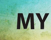 Myriad Pro Typography Poster