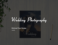 Minimal Wedding Photography flyer Price list