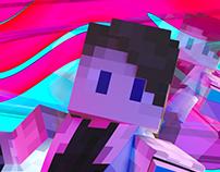 Trippy MineCraft avatar renders.